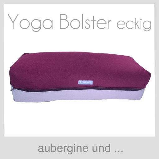 Yoga Bolster eckig Köln aubergine