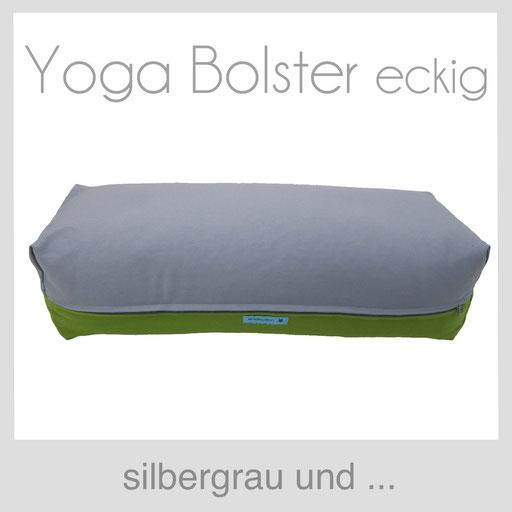 Yoga Bolster eckig Köln silbergrau