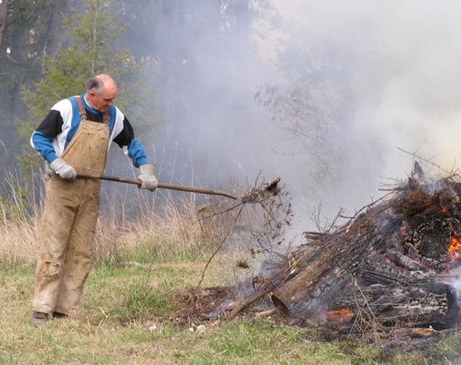 Al Shaw feeding the fire