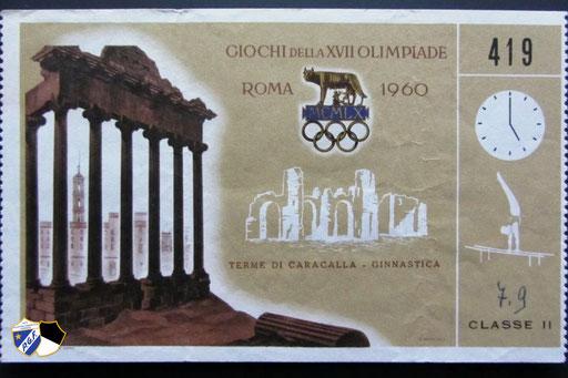 Biglietto Roma 1960