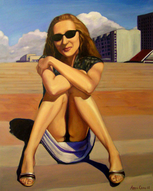 Eva in the City 6, 2008, 90/110 cm, oil on canvas (private collection)
