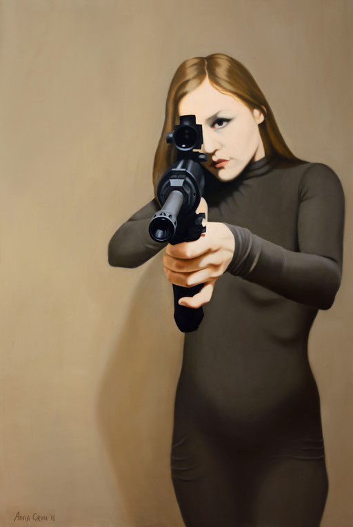 Shot, 2016, 150/100 cm, oil on canvas