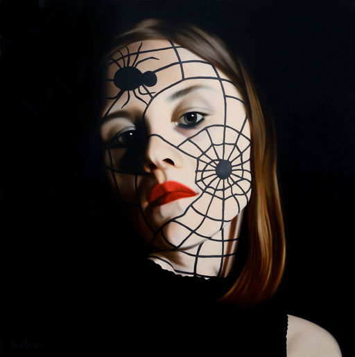 Lilith 5, 2016, 120/120 cm, oil on canvas