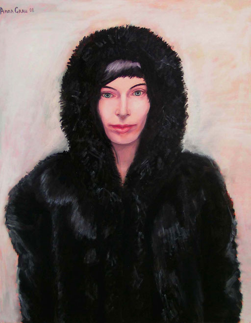 Fur 2, 2008, 80/100 cm, oil on canvas