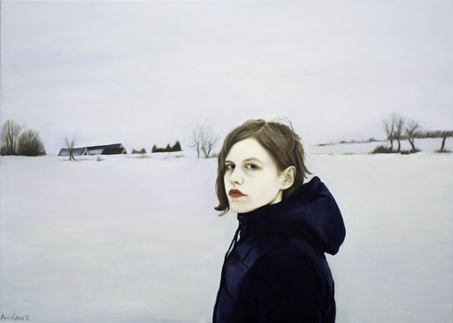 White 1, 2012, 100/140 cm, oil on canvas