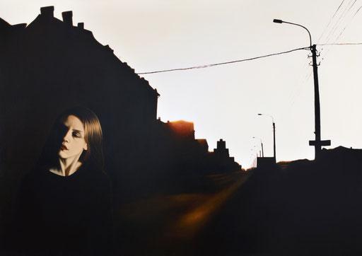 Shadows 1, 2018, 120/170 cm, oil on canvas