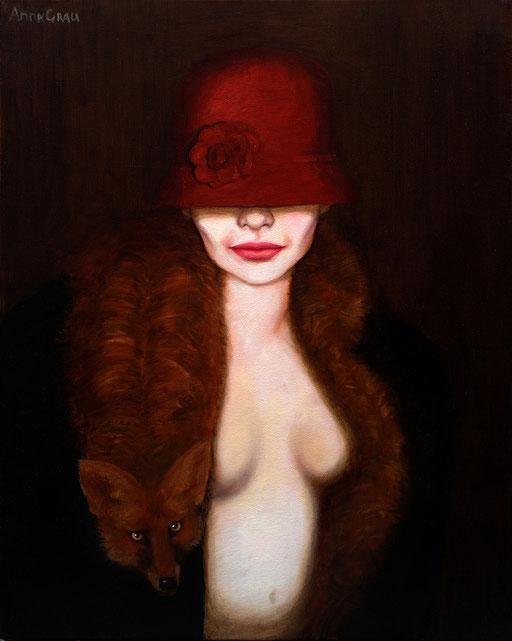 Fur 1, 2008, 80/100 cm, oil on canvas