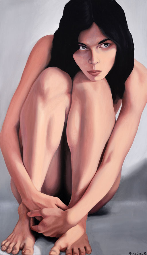 Caught 1, 2010, 70/120 cm, oil on canvas