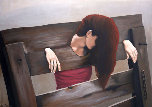Caught 2, 2010, 140/100 cm, oil on canvas