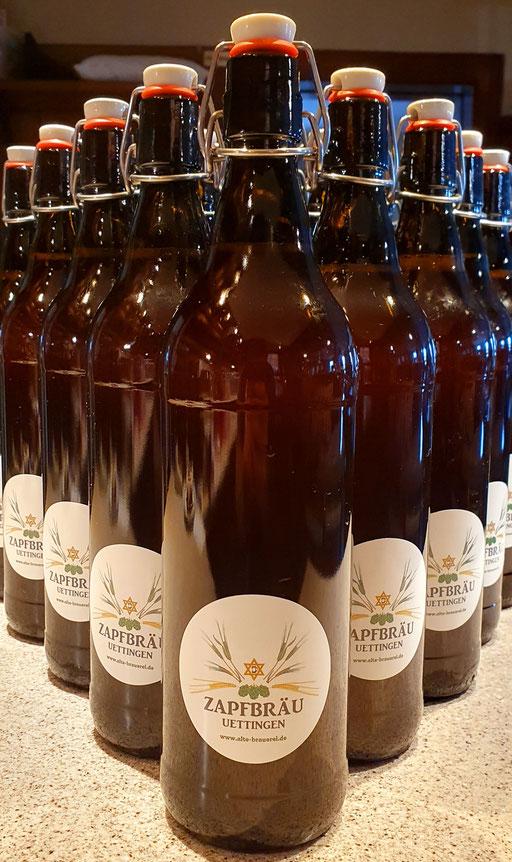 Zapfbräu in Flaschen