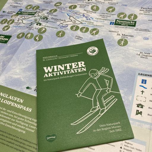 """Icons-Entwicklung """"Wintersportaktivitäten"""" für den Naturpark Zirbitzkogel-Grebenzen"""