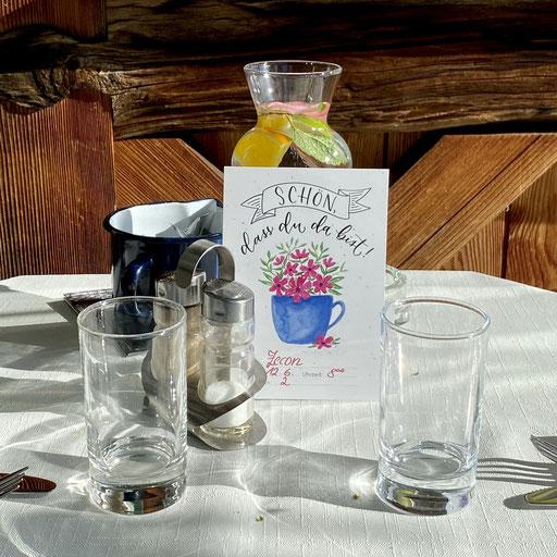 Reservierungskarte für das Kaffeehaus Ebner, St. Stefan o. Stainz