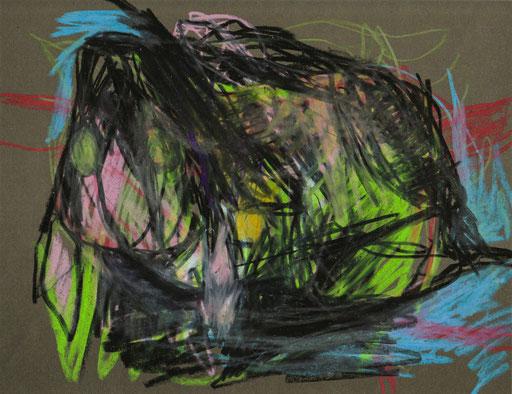Nachttier IV, 2012, Ölkreide auf Papier, 21 x 25 cm