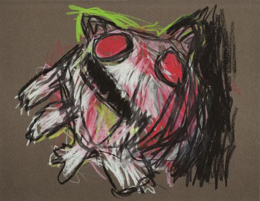 Nachttier III, 2012, Ölkreide auf Papier, 21 x 25 cm