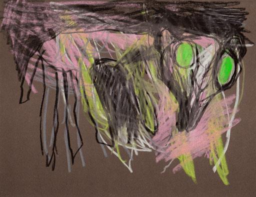 Nachttier II, 2012, Ölkreide auf Papier, 21 x 25 cm