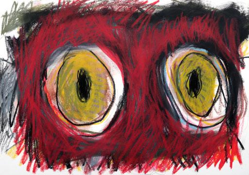 Chimären 4, 2016, Ölkreide auf Papier, 42 x 30 cm