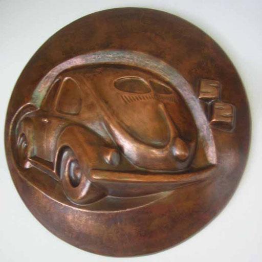 Titel: Brezelkäfer, Maße: Durchmesser: 50cm, Jahr: 1990