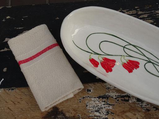Gemma Orkin Servierplatte & Barrydale Hand Weavers Serviette