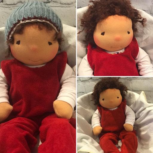 das Puppenbaby heisst bei der Puppenfee SCHLUMMERKIND und trägt am liebsten einen Strampelanzug mit einem Body darunter