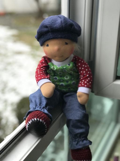 Puppenkleidung aus Jersey genäht