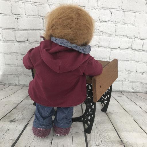 Puppenjacke von hinten