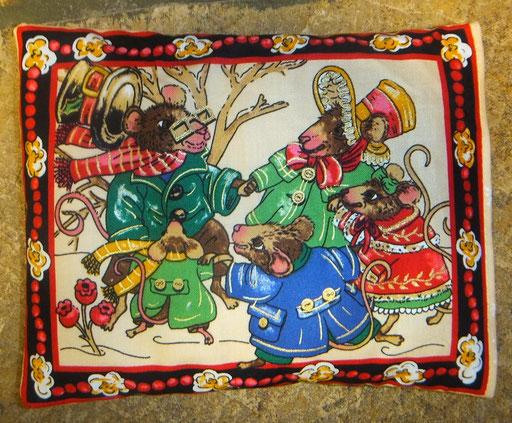 Tröstekissen Mausfamiile ,mit abnehmbarem Baumwollbezug