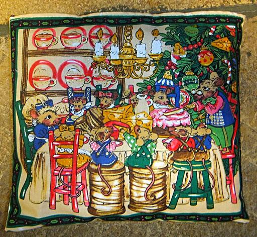 Tröstekissen Mausfamilie, mit abnehmbarem Baumwollbezug