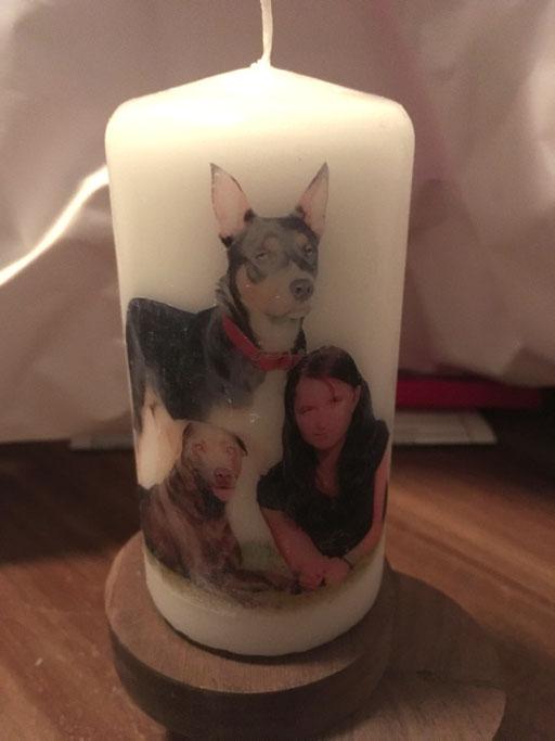 Kerze erstellt mit eigenem Hund