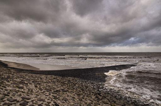 Zwischen West-und Nordstrand im Februar 2016