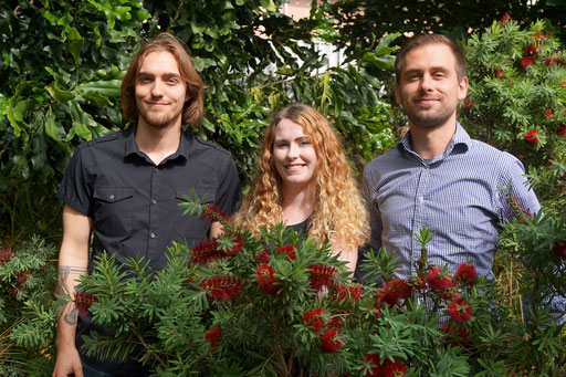 Bottlebrush co-author picture, Theo, Clare, Markus, Oct 2017