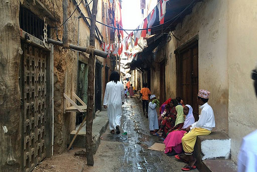 Un vicolo di Stone Town a Zanzibar