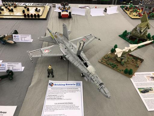 LEGO F-18 Kampfflugzeug Schweizer Luftwaffe