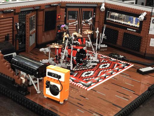 LEGO Schlagzeug Tonstudio