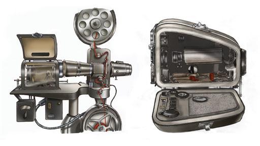 Illustrationen für das Deutsche Filmmuseum FFM