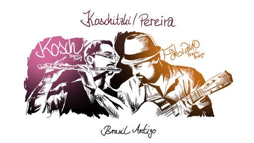 Musik-Cover Illustration