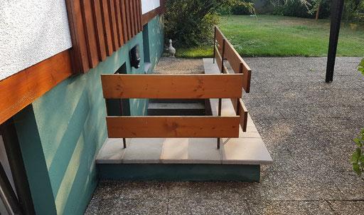 Waschbetonplatten entfernen und neue Betonplatten setzen