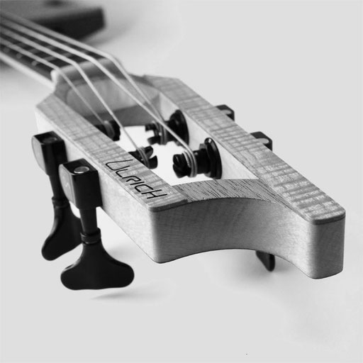 Ulrich Bassguitar - modern design with slotted heads - check out these great basses of the day