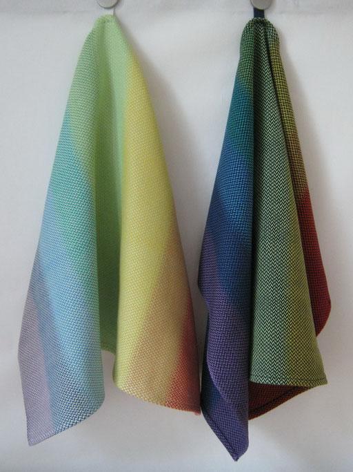 Handtücher aus mercerisierter Baumwolle