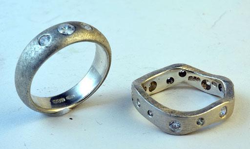 Zirkonia rings, silver