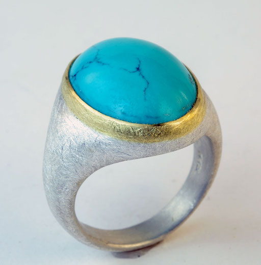 Turquoise, 18KY, sterling
