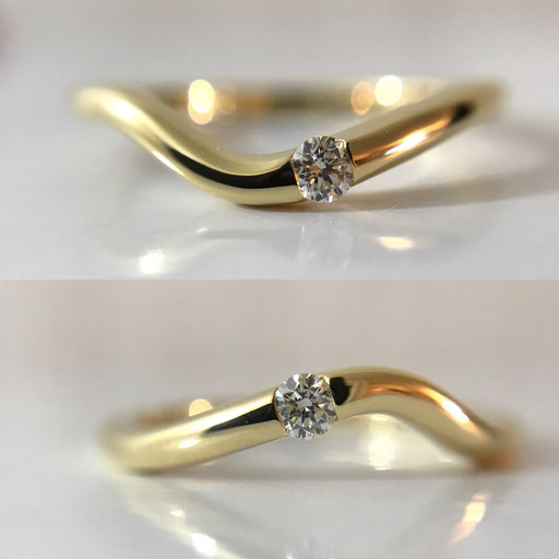 engagementring K18YG,Diamond