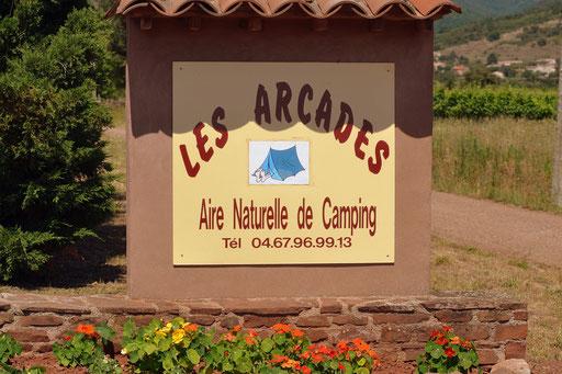 panneau entrée camping