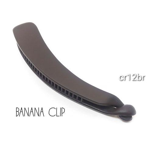 1個 高品質ABS樹脂製 バナナクリップ土台*検品済み マットブラウン【cr12br】
