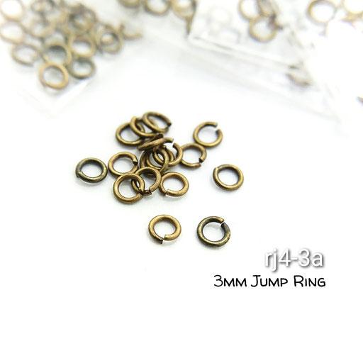 3mm丸カン100個!高品質☆金古美☆【rj4-3a】