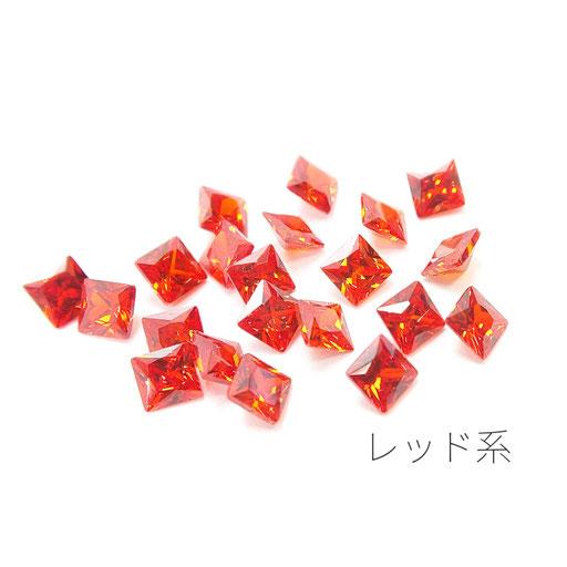 1辺約3mm 20粒 キュービックジルコニア《グレードA》高品質スクエアストーン☆イエロー系【zi002yg】