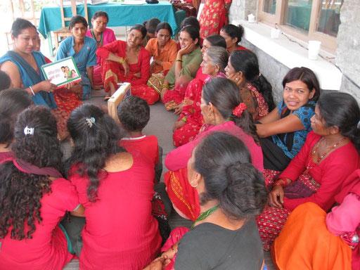 Schulung der BISS-Krankenschwester Kanchan