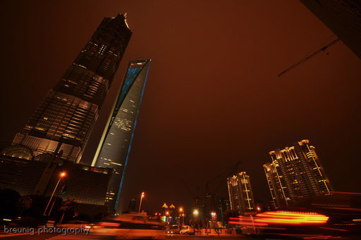 jin mao tower and shanghai world financial center swfc