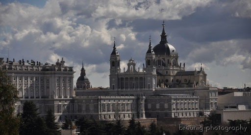 view to palacio real and catedral de la almudena