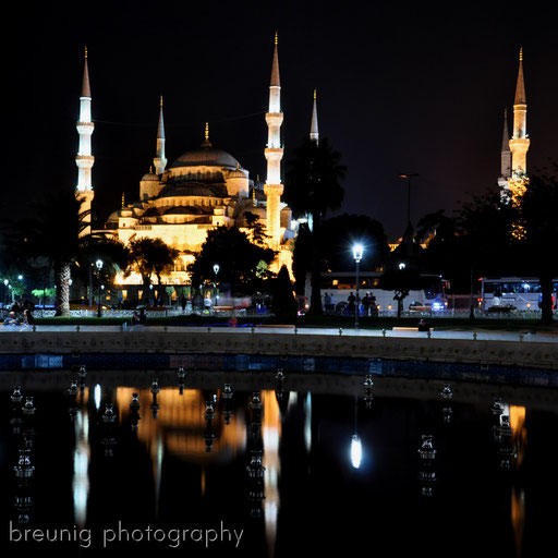 sultan ahmet camii @ night
