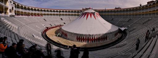 no torrero tonight - but a clown instead .. circus mundial visiting las ventas
